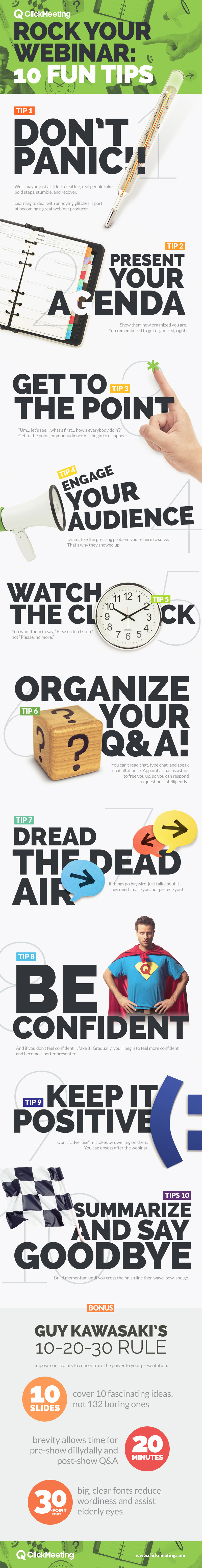 Infographic: 10 Fun Tips to Get Ready for Your Webinar